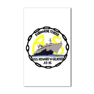 USS Howard W. Gilmore (AS 16) Sticker (Rectangular Sticker by as16
