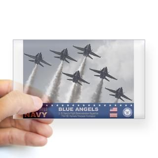Blue Angels F 18 Hornet Rectangle Decal for $4.25