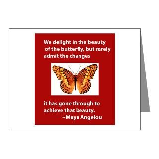Quote Note Cards  Maya Angelou   Butterfly Note Cards (Pk of 20