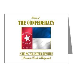 Confederate Flag Thank You Note Cards