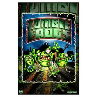 Zombie Frogs Large Poster 23X35