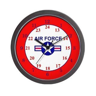 24 Hour Air Force Wall Clock for $18.00