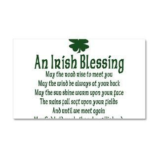 Gifts  Celtic Wall Decals  Irish Blessing 38.5 x 24.5 Wall Peel