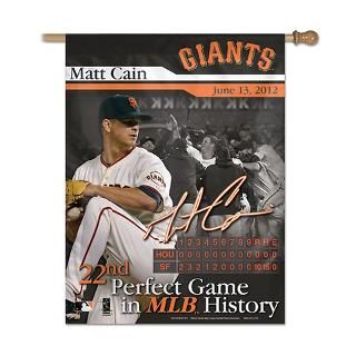 Matt Cain San Francisco Giants Perfect Game Vertical Flag 27x37