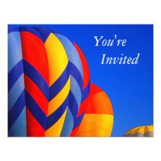 hot air balloon invitiation announcement