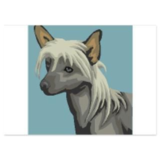 chinese crested 4 5 x 6 25 flat cards $ 1 45
