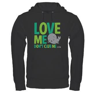 Love Me, Dont Club Me designs on T Shirts & Clothing by PETA Store