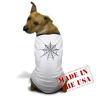 Halloween Gifts  Halloween Pet Apparel  Spider Web Dog T Shirt