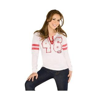 San Francisco 49ers Womens Kickoff Lace Up Tri Bl for $49.99