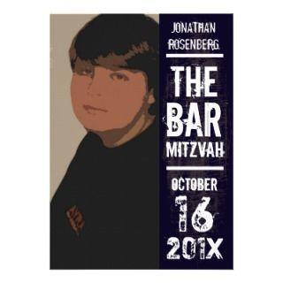 Rock Band Poster Bar Mitzvah Invitation invitations by Lowschmaltz