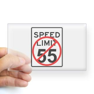 No 55 limit sign Rectangle Decal for $4.25