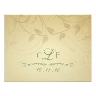 RSVP   invitaciones del boda del otoño   tarjetas Anuncio de