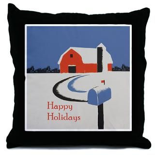 Winter Scene with Red Barn  Best of Washington DC T shirts and Gifts