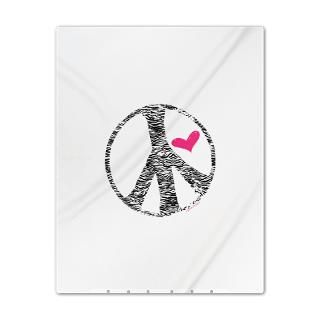 Animal Gifts > Animal Bedroom > Zebra Print Peace And Love Twin