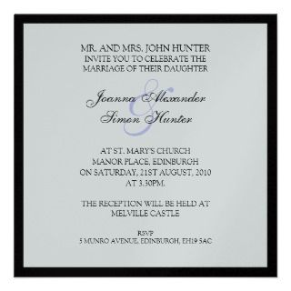Classic Wedding Invitiation Personalized Invitation