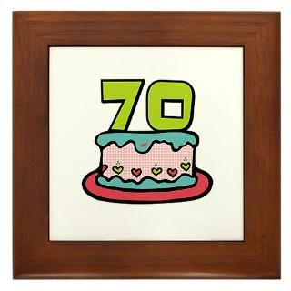 70Th Birthday Framed Art Tiles  Buy 70Th Birthday Framed Tile