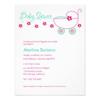 Baby Shower Invitation, En Español, Spanish invitations by