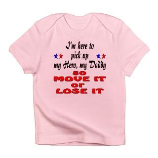 Air Force Gifts  Air Force T shirts  Hero Daddy Move It Infant T