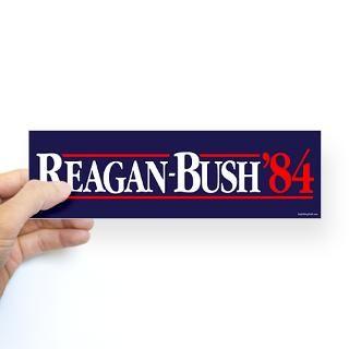 Reagan Bush 84 Campaign Sticker (Bumper)