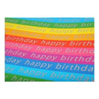 Happy Birthday Background Personalized Invites