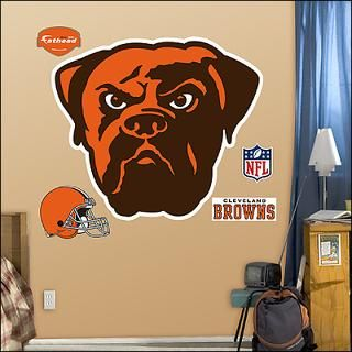 cleveland browns logo fathead wall graphic $ 89 99