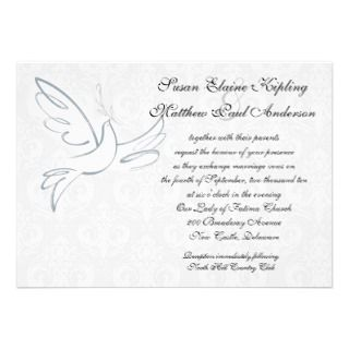 Classic Dove Wedding Invitation