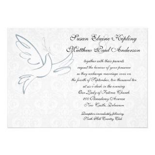 Classic Dove Wedding Invitation