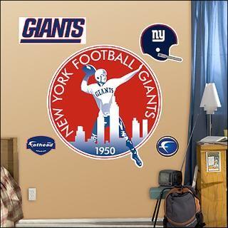 new york giants classic logo fathead wall graphic $ 89 99