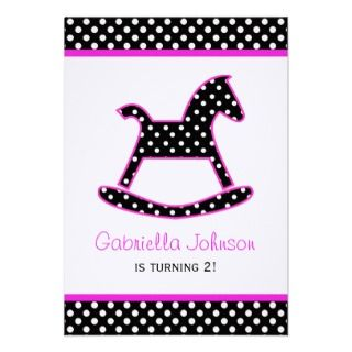 Rocking Horse Birthday Party Invitation
