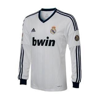 Real Madrid adidas Soccer Home Long Sleeve Replica for $94.99