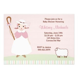 Little Bo Peep Baby Shower Invitation