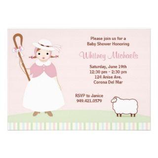 Little Bo Peep Baby Shower Invitation