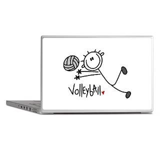 Love Volleyball Gifts  Love Volleyball Laptop Skins  Stick Figure