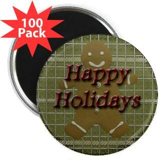 happy holidays gingerbread 2 25 magnet 100 pack $ 107 99