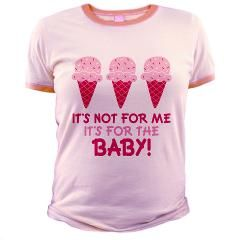 Funny Ice Cream Quote Maternity T Shirt by milesmaternity