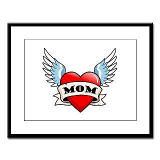 Mom Tattoo Winged Heart  Big Brother / Sister and new baby gifts