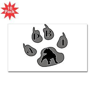 APBT PAW PRINT Rectangle Sticker 10 pk)
