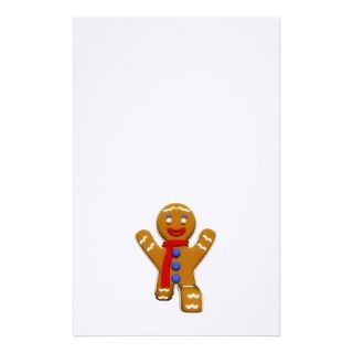 Gingerbread Man   Perfect Landing Custom Stationery