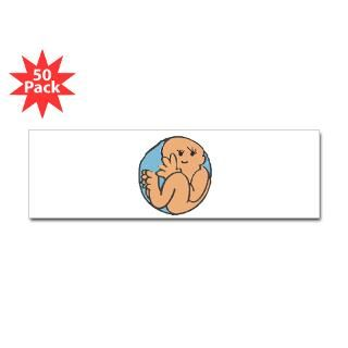 Baby in Belly Rectangle Sticker 50 pk)