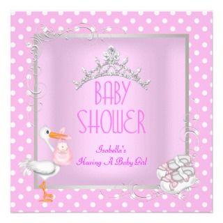 Princess Pink Baby Shower Girl Baby iara Spo Personalized Invie
