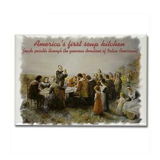 Americas First Soup Kitchen Rectangle Magnet