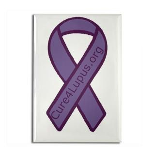 Purple Ribbon 2.25 Button (10 pack)