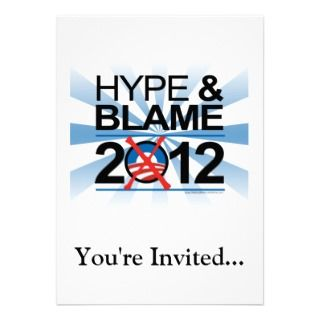 Hype and Blame Blue/White Rays Custom Invitations