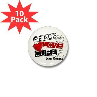 PEACE LOVE CURE Lung Cancer Shirts  Awareness Gift Boutique