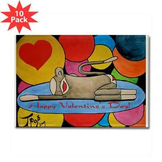 Valentine Sock Monkey Rectangle Magnet (10 pack)