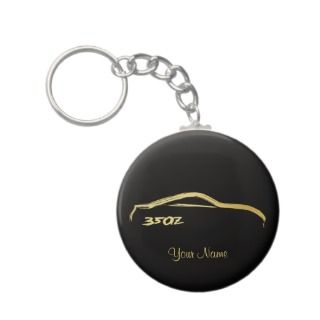 Nissan 350Z Gold Brush stroke Logo keychains by AV_Designs