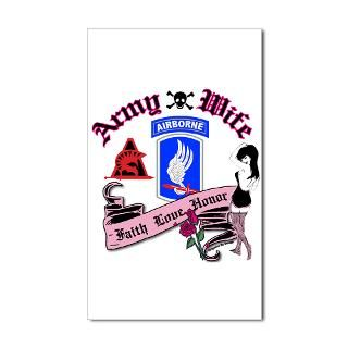 173rd Army Wife Pinup Tattoo Rectangle Sticker by brigadebydesign