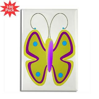 yellow butterfly rectangle magnet 100 pack $ 189 99