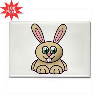 cartoon bunny rectangle magnet 100 pack $ 189 99