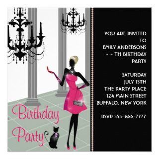 Any Number Girls Birthday Personalized Invitation